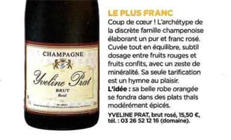 Detail article Management Champagne Prat