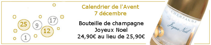 Jour 7 promotion champagne noel