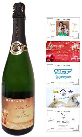 etiquettes personnalisees pour bouteille de champagne pour noel et reveillon du nouvel an. Black Bedroom Furniture Sets. Home Design Ideas
