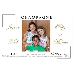Champagne personnalise pour Noel