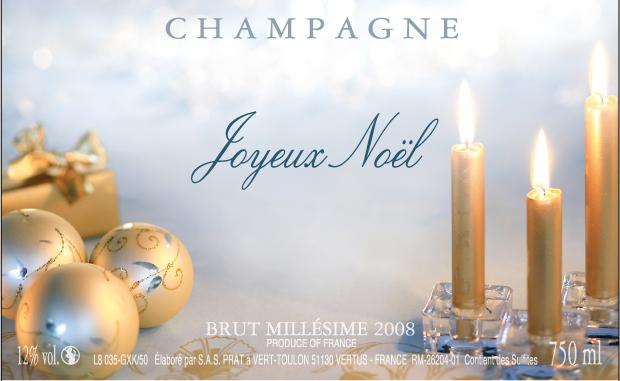 Etiquettes personnalisees pour bouteille de champagne pour noel et reveillon du nouvel an - Reveillon de noel original ...