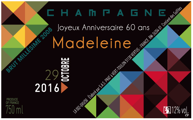 Champagne personnalise anniversaire