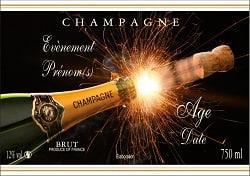 Etiquette Personnalisee Pour Bouteille De Champagne Pour Un Anniversaire