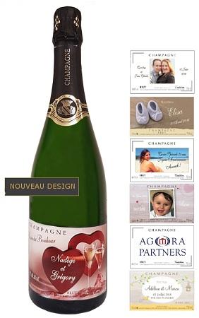 etiquette personnalis e pour bouteille de champagne pour mariage naissance anniversaire. Black Bedroom Furniture Sets. Home Design Ideas