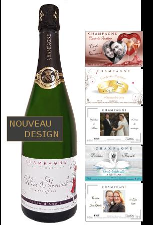 etiquette personnalis e pour bouteille de champagne pour. Black Bedroom Furniture Sets. Home Design Ideas