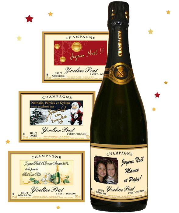 champagne personnalise pour noel et r veillon du nouvel an. Black Bedroom Furniture Sets. Home Design Ideas