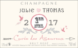 Champagne personnalise pour mariage