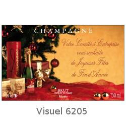 Etiquettes personnalis es pour bouteille de champagne pour noel et r veillon du nouvel an - Reveillon de noel original ...