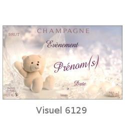 Etiquette personnalis e pour bouteille de champagne pour - Etiquette bapteme gratuite a imprimer ...