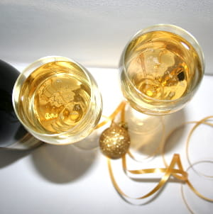 Champagne en cadeau pour Noel