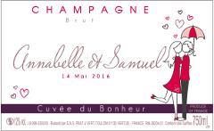 etiquette personnalise fianailles avec visuel - Tiquette Personnalise Champagne Mariage